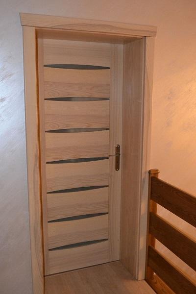 Drzwi drewniane wewnętrzne sosnowe